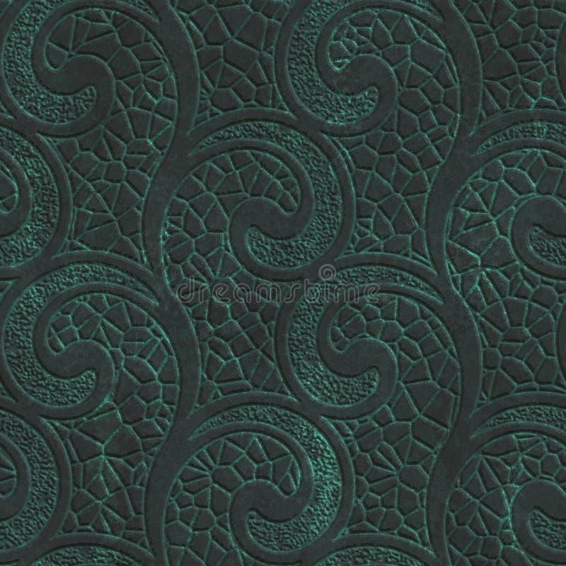 Struttura senza cuciture di rame con il modello di turbinii su un fondo metallico dell'ossido royalty illustrazione gratis