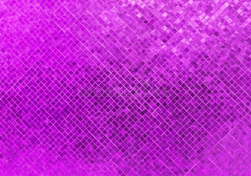 Struttura senza cuciture di vetro porpora di lusso astratta del fondo del mosaico del modello delle mattonelle di pavimentazione  fotografia stock libera da diritti