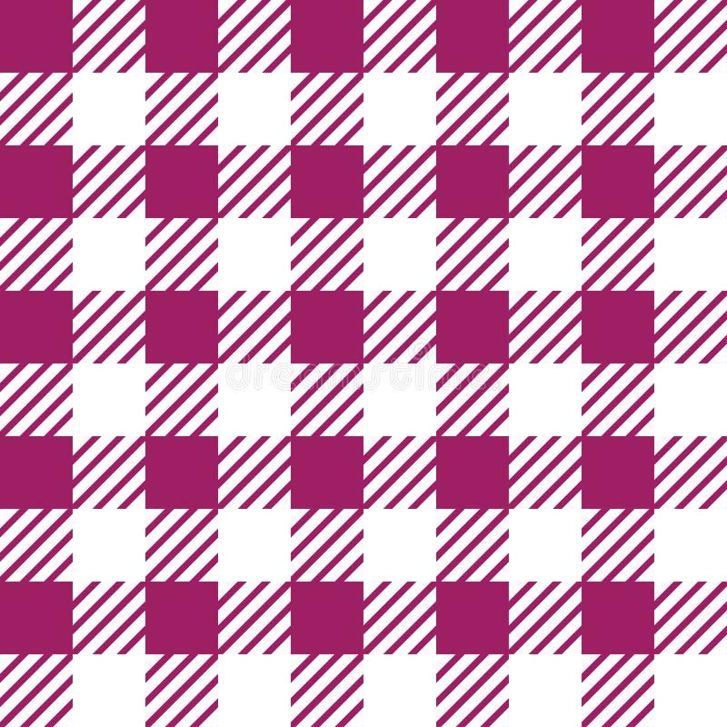 Struttura senza cuciture di vettore con l'ornamento vichy della gabbia Gabbie bianche e rosa royalty illustrazione gratis