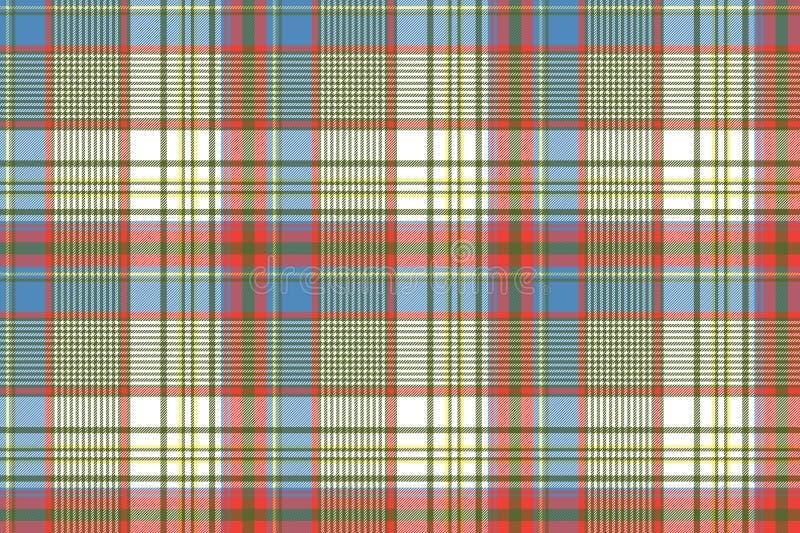 Struttura senza cuciture diagonale colorata del tessuto di stoffa per camice del plaid royalty illustrazione gratis