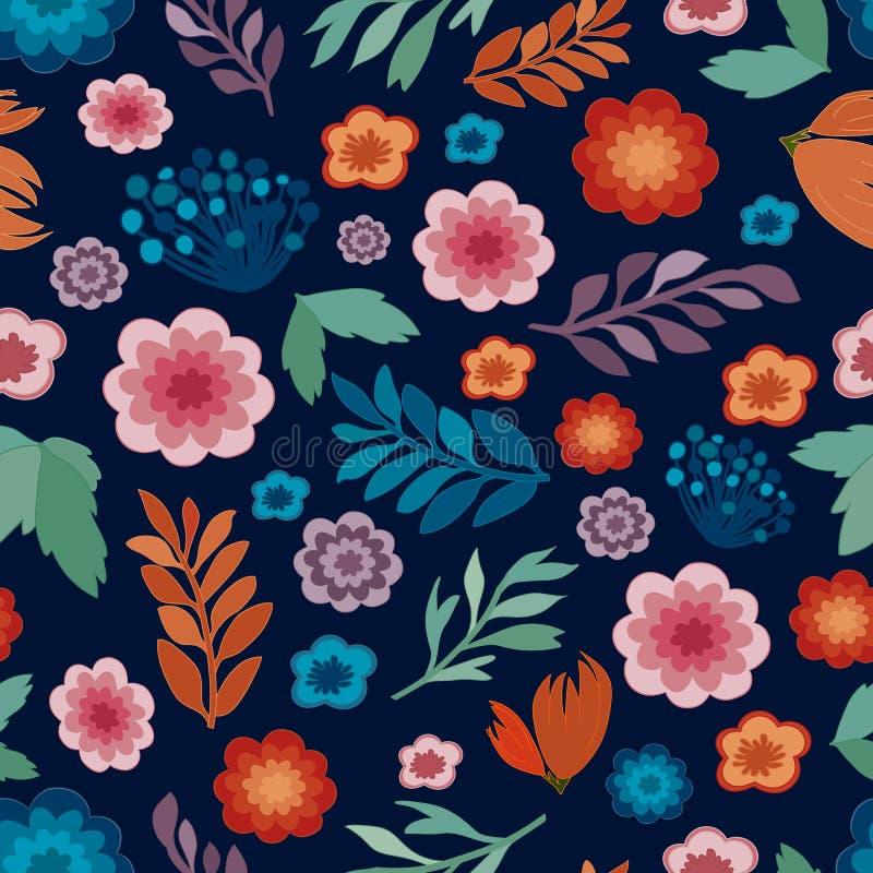 Struttura senza cuciture floreale sveglia, modello ripetibile royalty illustrazione gratis