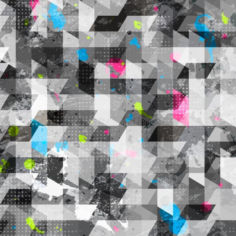 Struttura senza cuciture geometrica di lerciume illustrazione vettoriale