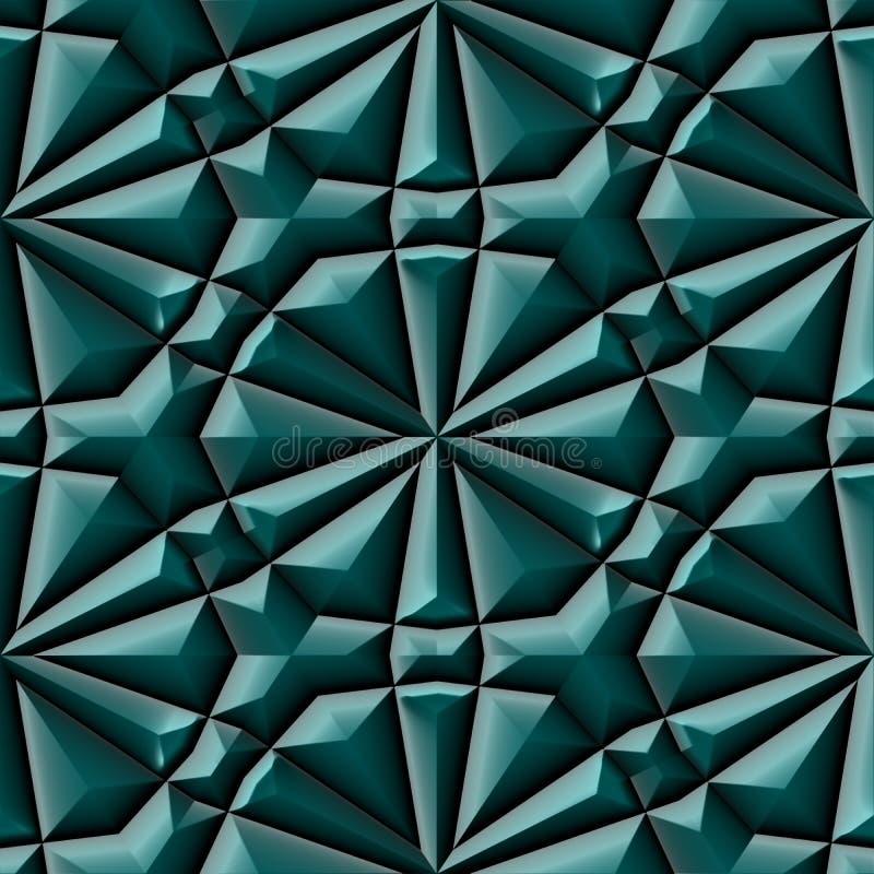 Struttura senza cuciture o fondo dell'ornamento maya verde illustrazione vettoriale