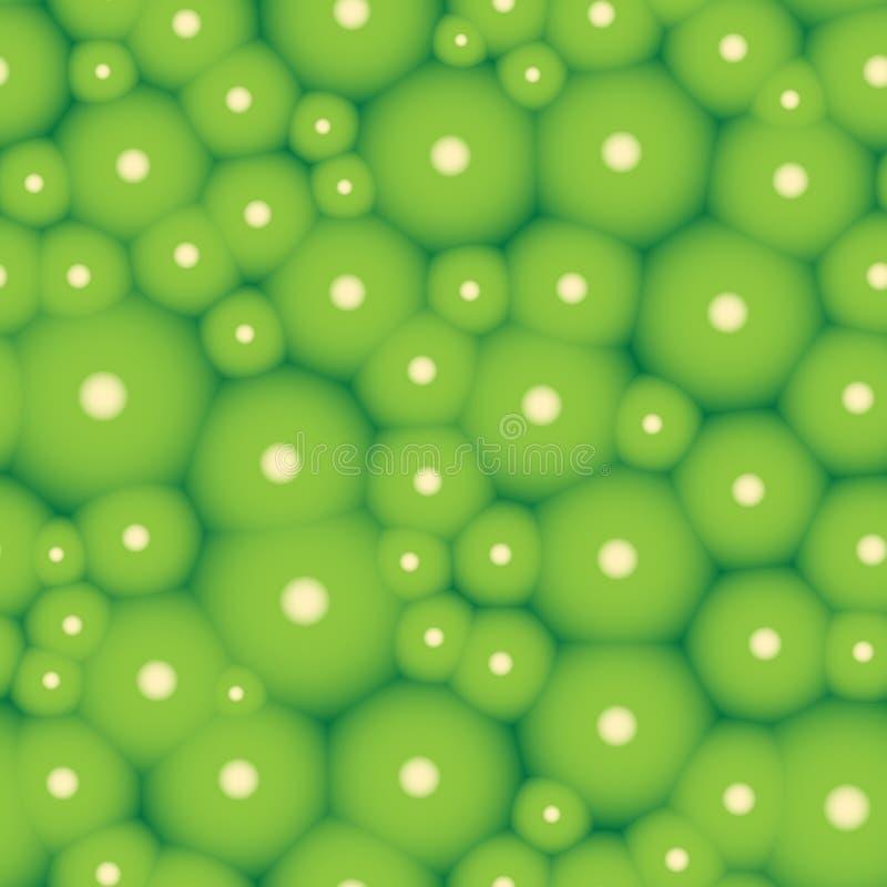 Struttura senza cuciture organica del modello verde delle cellule illustrazione vettoriale
