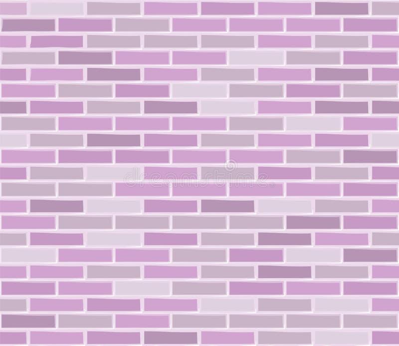 Struttura senza cuciture rosa del muro di mattoni illustrazione vettoriale