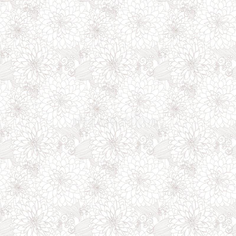 Struttura senza giunte chiara con i fiori illustrazione vettoriale