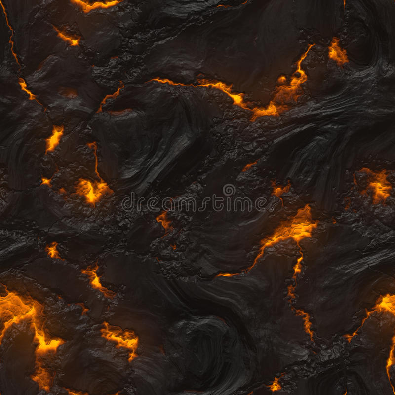 Struttura senza giunte della lava o del magma illustrazione vettoriale