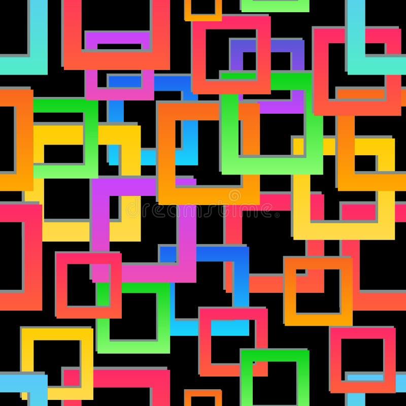 Struttura senza giunte Reticolo geometrico astratto Fondo variopinto moderno del mosaico illustrazione vettoriale