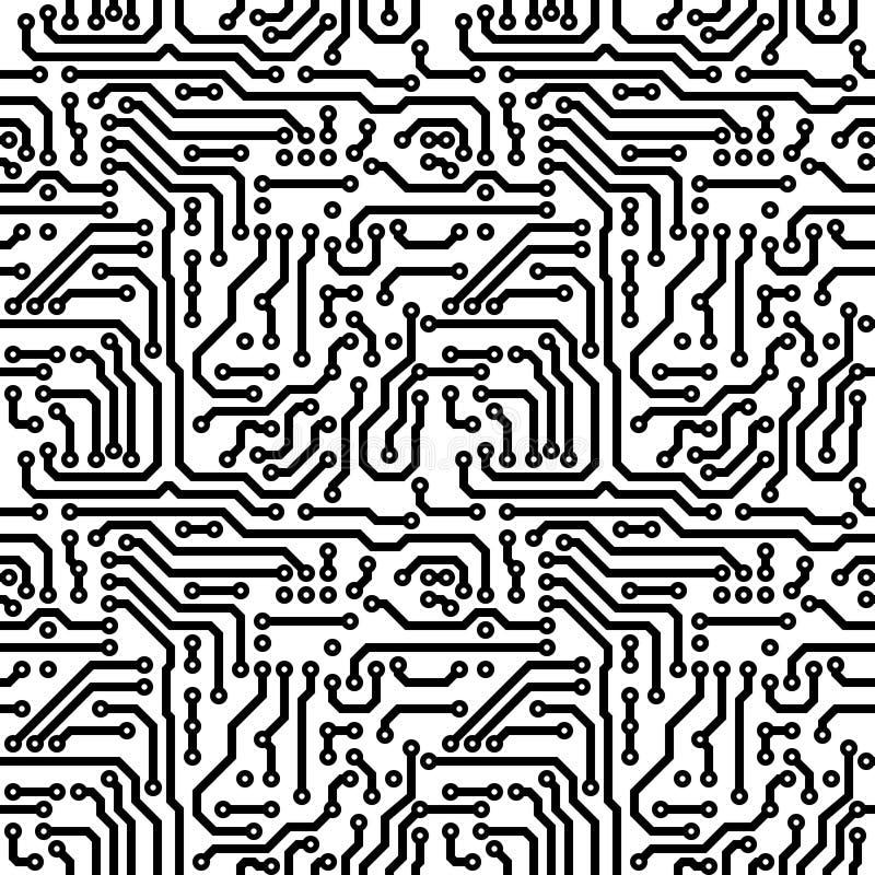 Struttura senza giunte - tema elettrico illustrazione di stock
