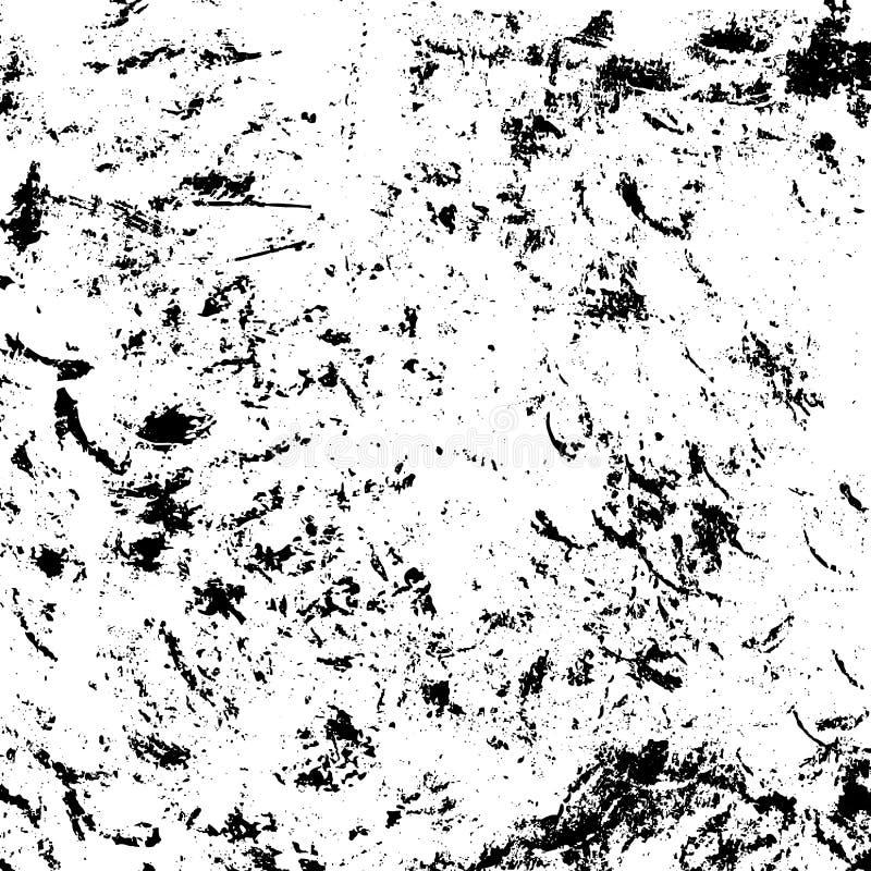 Struttura sporca di lerciume, nera su fondo bianco illustrazione di stock