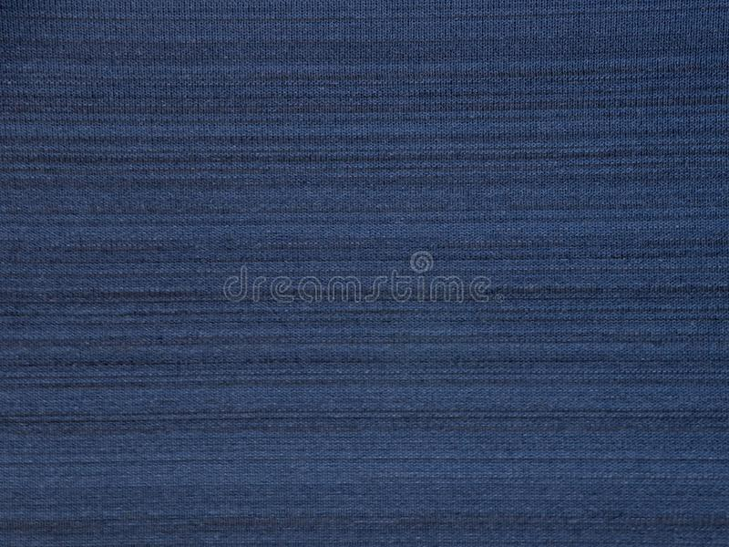 Struttura a strisce del tessuto di sportwear del poliestere dei blu navy fotografia stock