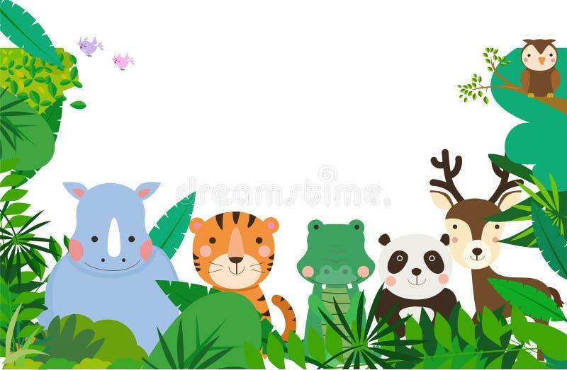 Struttura sveglia degli animali illustrazione vettoriale