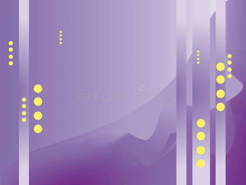 Struttura in tonalità dei punti porpora e gialli illustrazione vettoriale