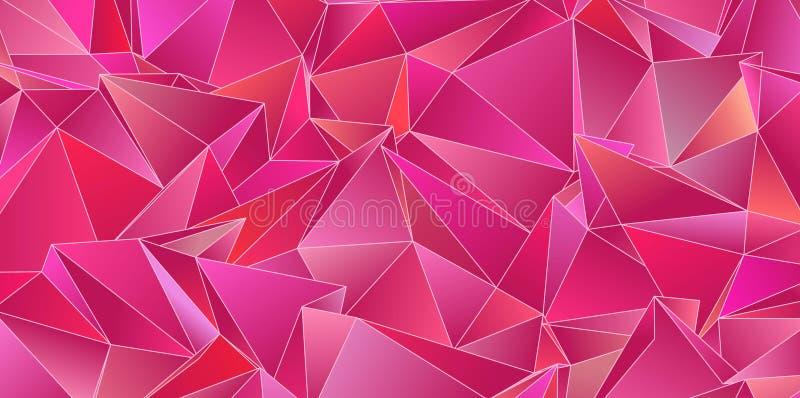 Struttura a triangolo Progettazione Modello geometrico poligonale Stile moderno triangolare fotografia stock libera da diritti