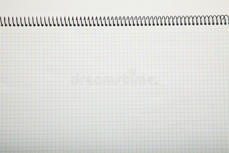 Struttura in una gabbia, estratto di Libro Bianco fondo del blocco note fotografia stock