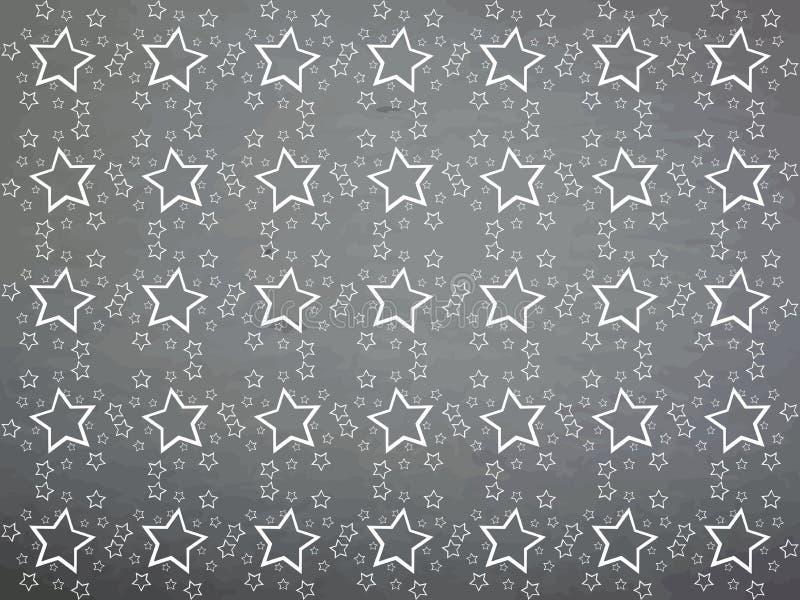 Struttura variopinta astratta con le stelle illustrazione vettoriale