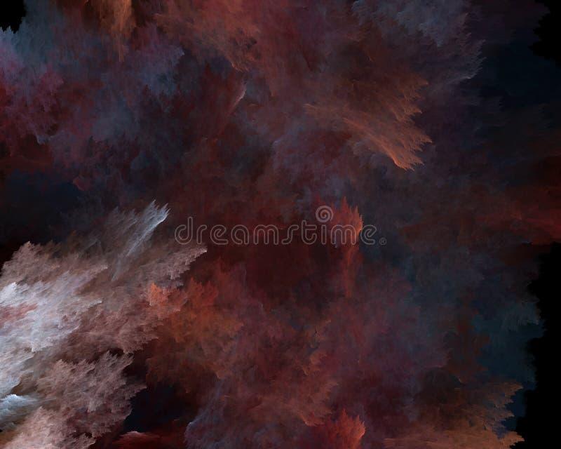 Struttura variopinta astratta del fondo di frattale di fantasia di forme nei colori bianchi e rossi blu fotografia stock libera da diritti