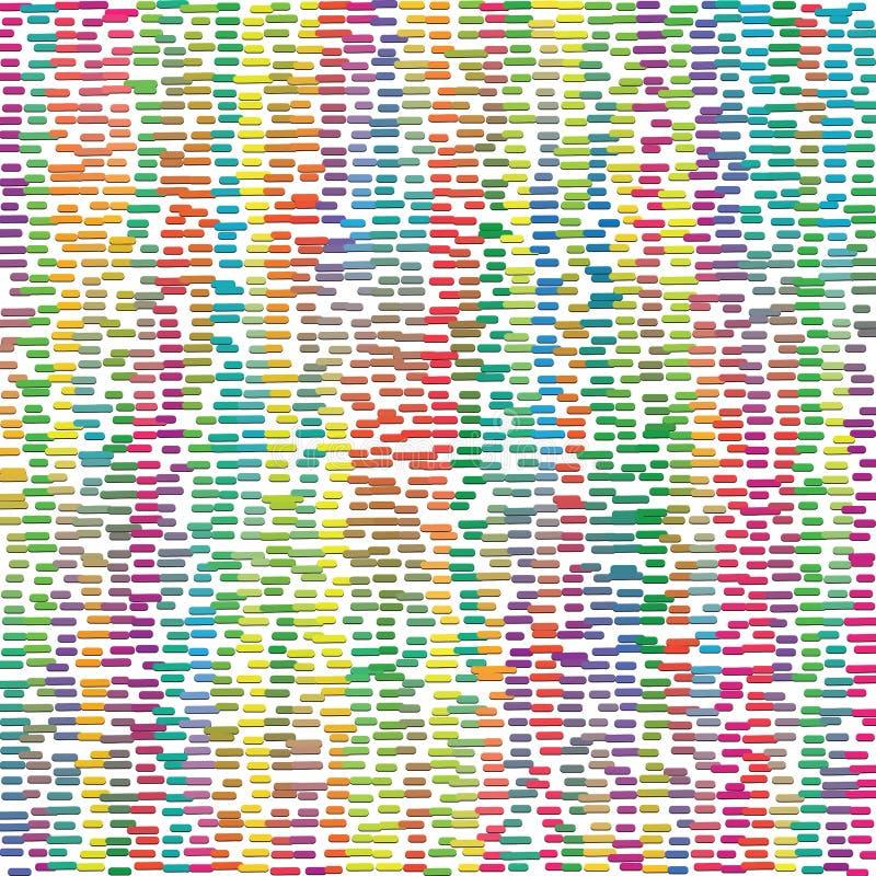 Struttura variopinta astratta di Dots In Mesh Background Pattern della banda di spettro illustrazione di stock