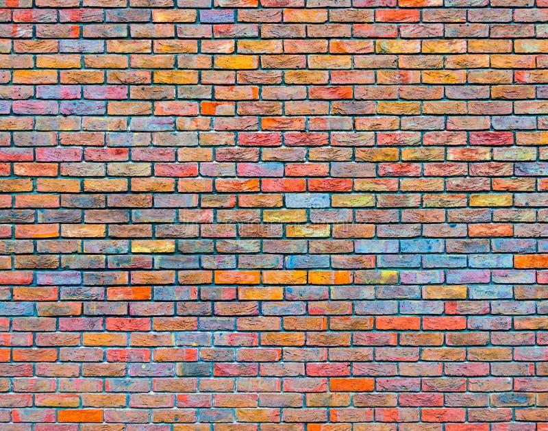 Struttura variopinta del muro di mattoni immagine stock libera da diritti