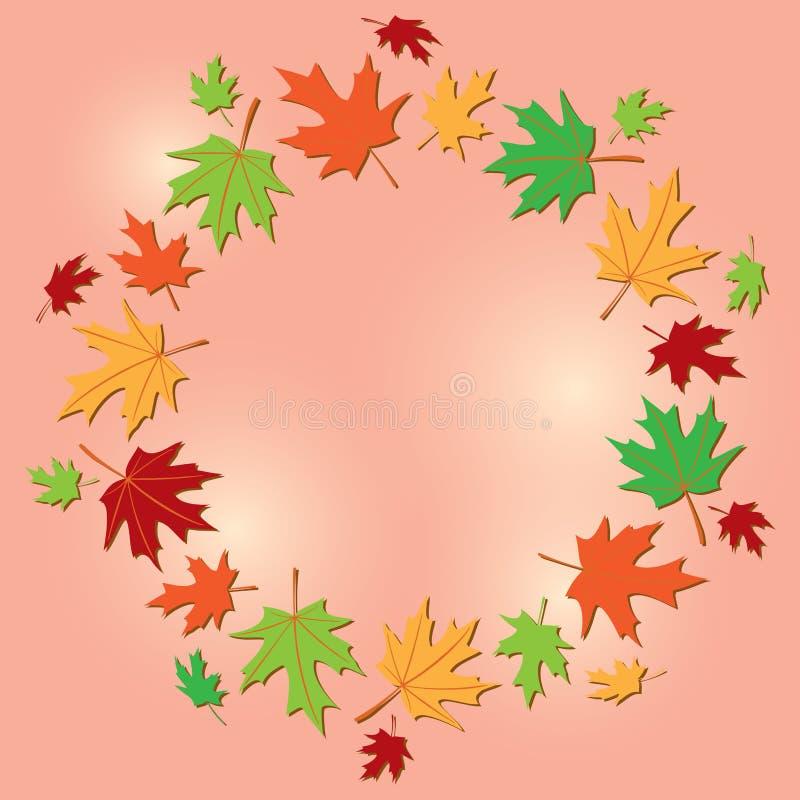 Struttura variopinta delle foglie su fondo ottimistico - vettore royalty illustrazione gratis