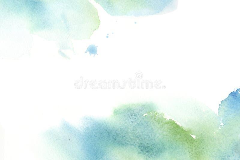 Struttura variopinta disegnata a mano dell'estratto dell'acquerello con le macchie royalty illustrazione gratis