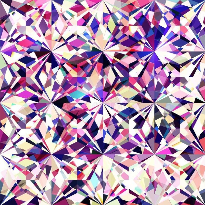 Struttura variopinta senza cuciture del diamante fotografie stock