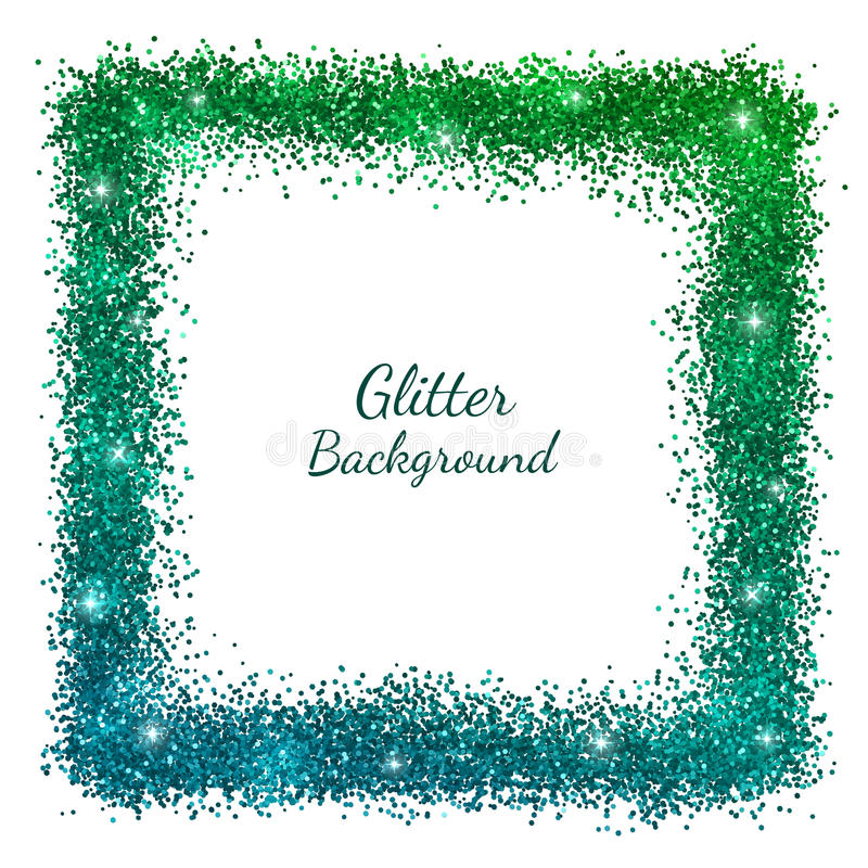 Struttura verde blu di festa di scintillio illustrazione vettoriale
