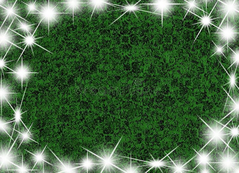 Struttura verde con le stelle illustrazione vettoriale