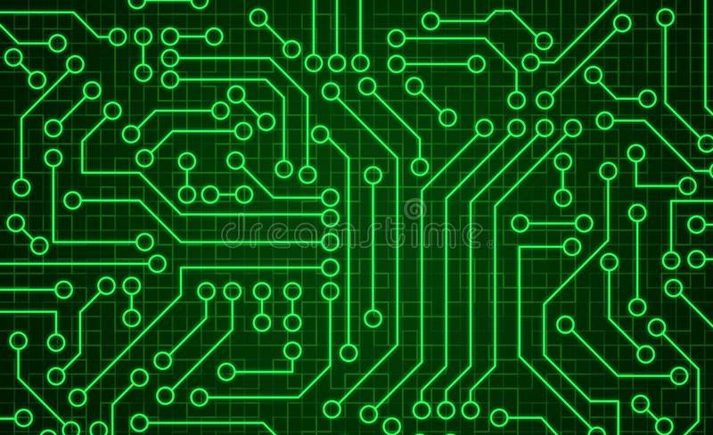 Struttura verde del modello del circuito Fondo alta tecnologia nella vangata royalty illustrazione gratis