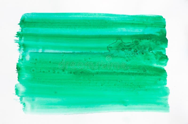 Struttura verde dell'acquerello dipinta sul fondo del Libro Bianco fotografia stock libera da diritti