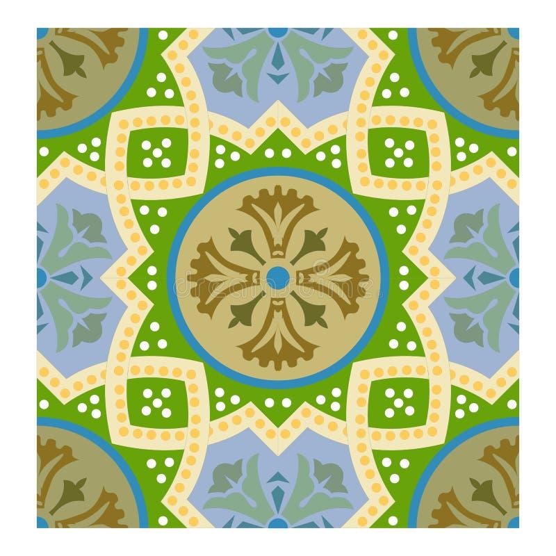 Struttura verde e gialla della foglia, bakcground floreale di autunno senza cuciture per tessuto royalty illustrazione gratis