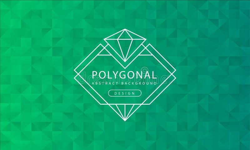Struttura verde poligonale del fondo dell'estratto, strutturata verde, ambiti di provenienza del poligono dell'insegna, illustraz royalty illustrazione gratis