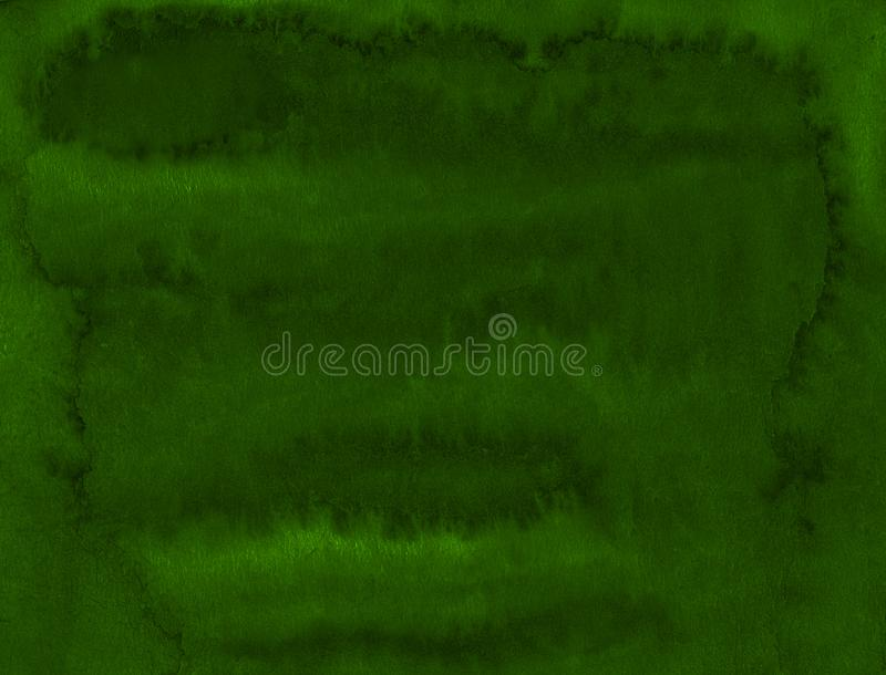 Struttura verde scuro dell'acquerello con i colpi lacerati e le bande Fondo astratto per progettazione, disposizioni royalty illustrazione gratis