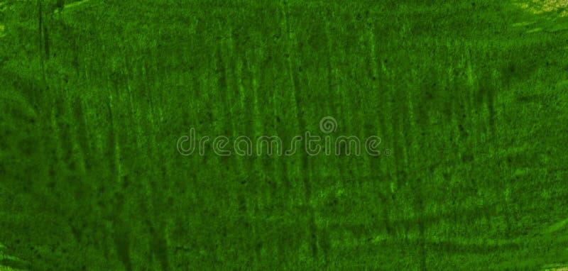 Struttura verde scuro dell'acquerello con i colpi lacerati e le bande Fondo astratto per progettazione, le disposizioni ed i mode fotografia stock libera da diritti