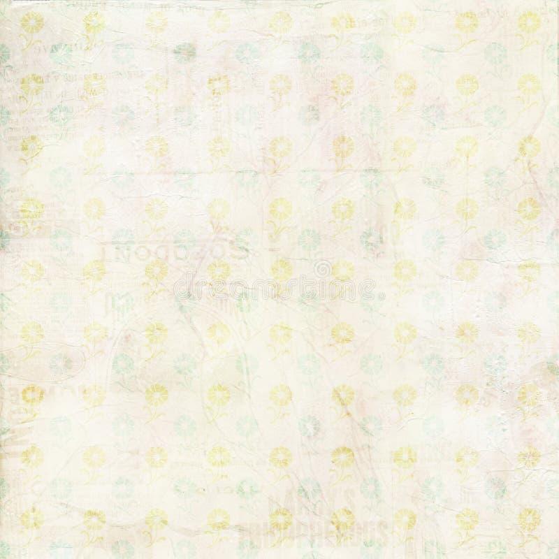Struttura verniciata tela di canapa misera dell'annata con i fiori immagine stock