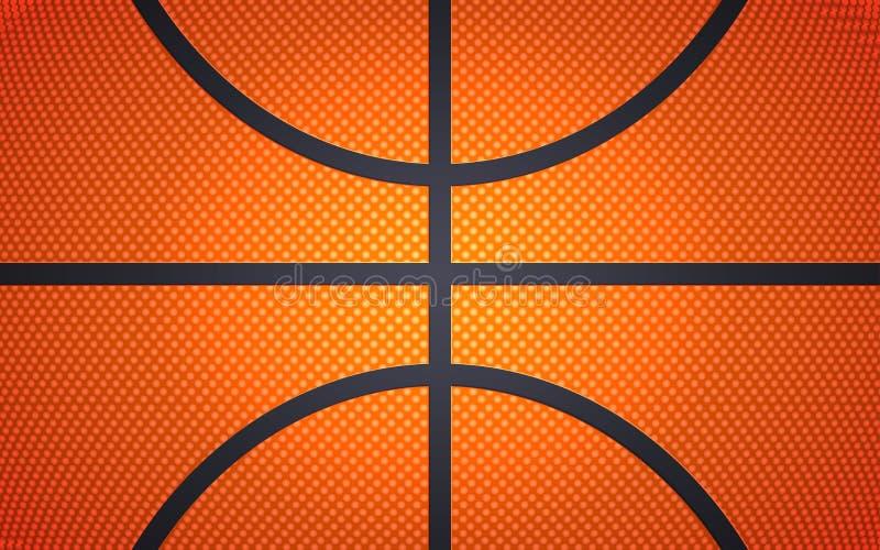Struttura verticale della palla per pallacanestro, fondo di sport, illustrazione di vettore royalty illustrazione gratis