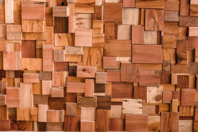 Strutturato di uso del legno del fondo del cubo per il testo multiuso di forma immagine stock libera da diritti
