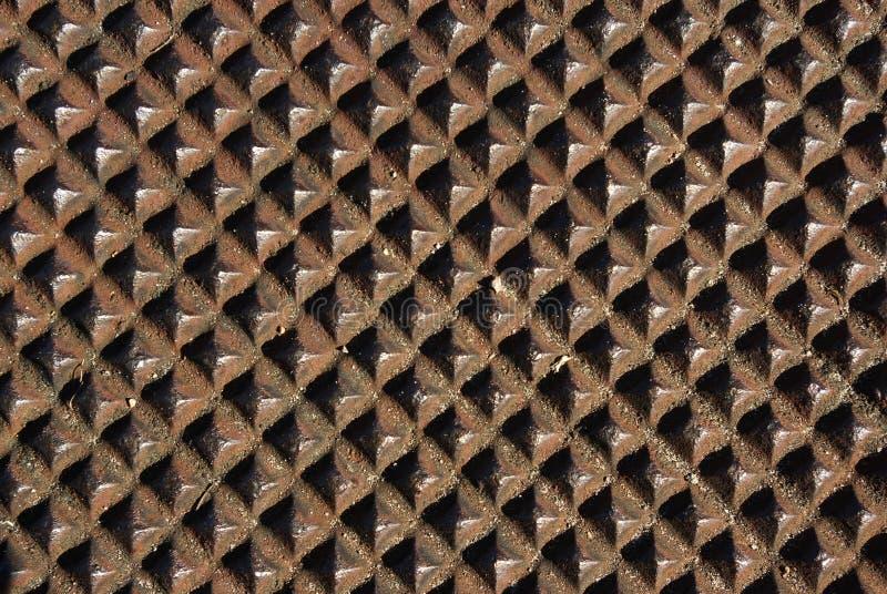 Strutture: Coperchio di botola Diamon fotografia stock
