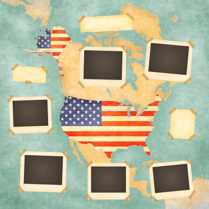 Strutture d'annata della foto (U.S.A.) illustrazione vettoriale