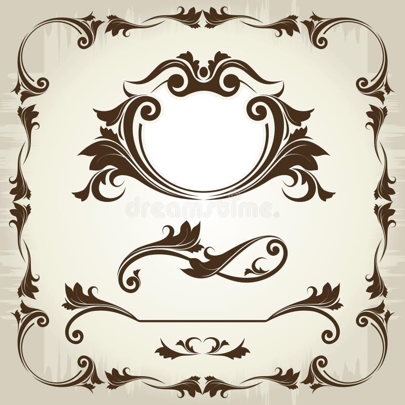 Strutture d'annata ed elementi royalty illustrazione gratis