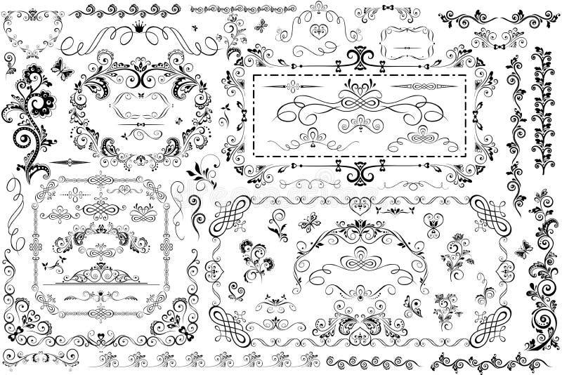Strutture d'annata ed intestazione royalty illustrazione gratis