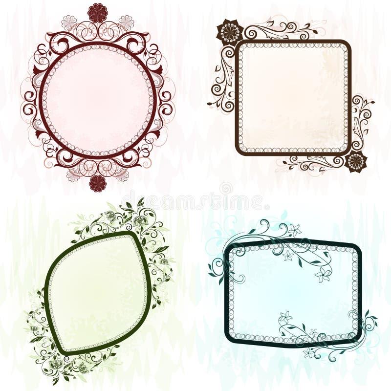 Strutture decorate di lerciume d'annata. royalty illustrazione gratis