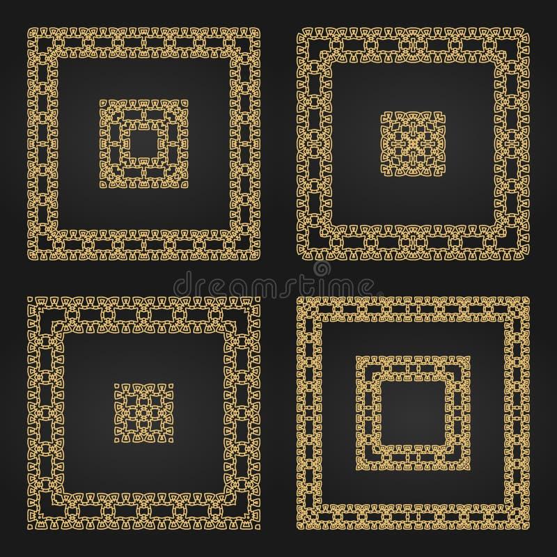Strutture decorative dorate messe illustrazione vettoriale