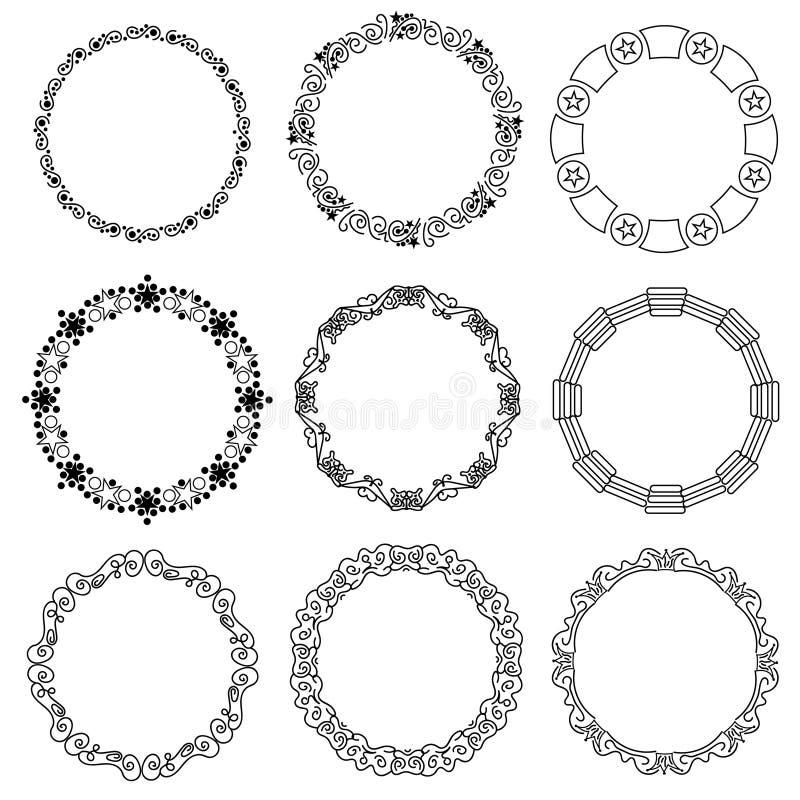 Strutture decorative stabilite del cerchio - etichetta illustrazione vettoriale
