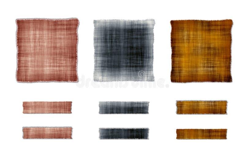 Strutture del tessuto illustrazione di stock