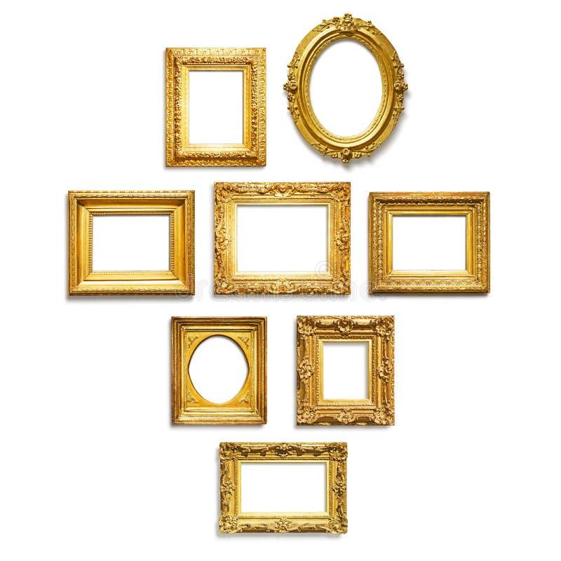 Strutture dell'oro fotografia stock libera da diritti