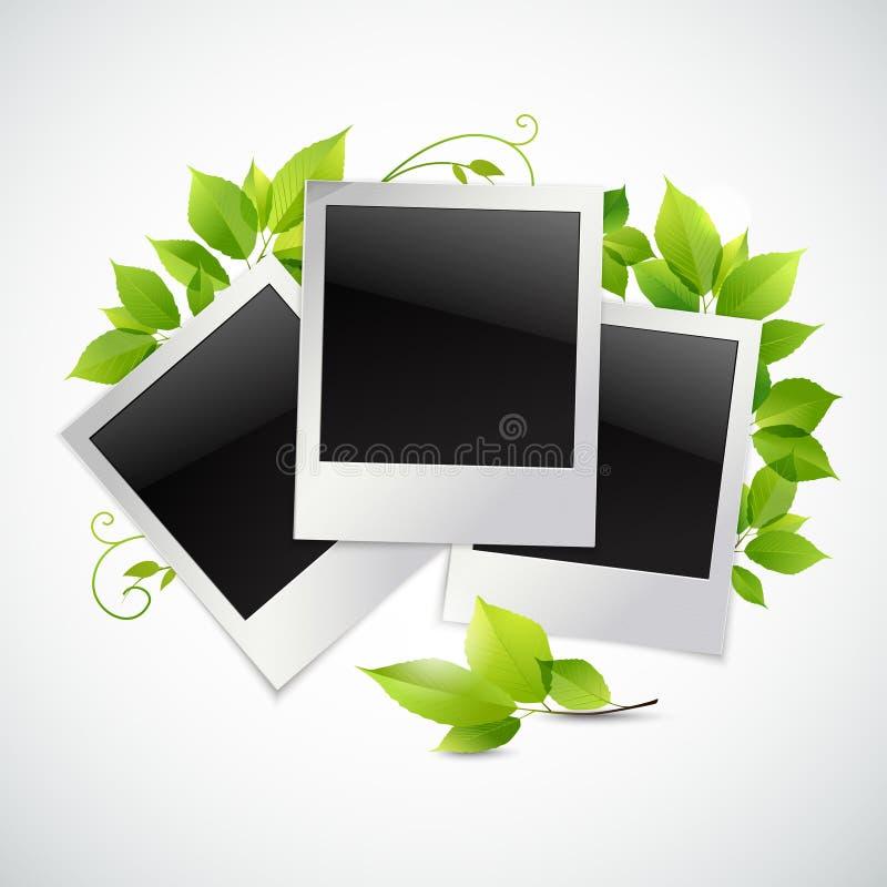 Strutture della foto con le foglie verdi illustrazione di stock