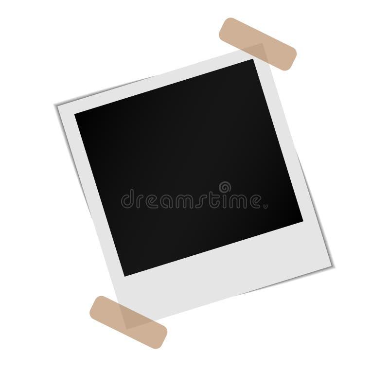 Strutture della foto della polaroid illustrazione vettoriale