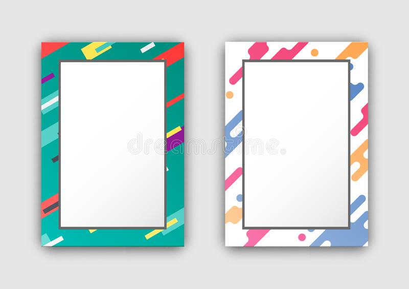 Strutture della foto messe con la figura dell'estratto del confine di colore illustrazione di stock