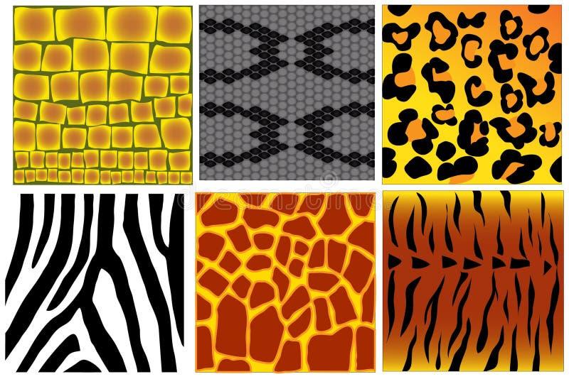 Strutture della pelle animale illustrazione di stock